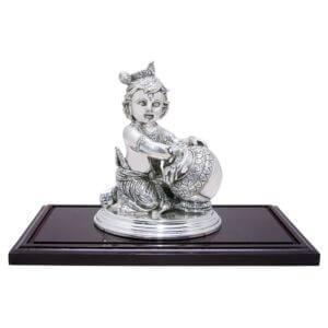 Rmp Jewellers silver krishna idol